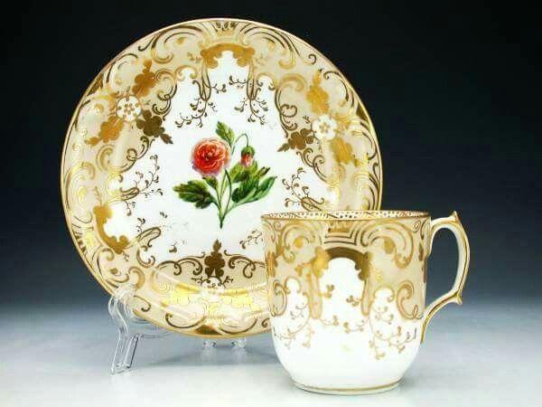 Golden teacup