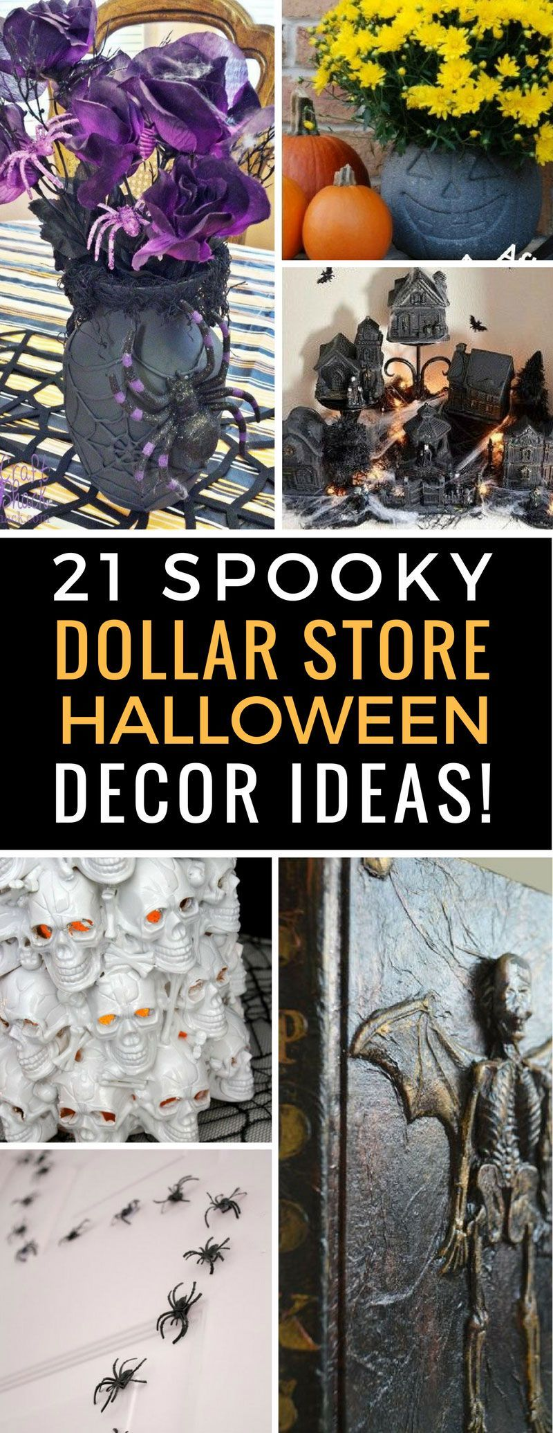 21 Spooky Dollar Store Halloween Decor Ideas You Need to
