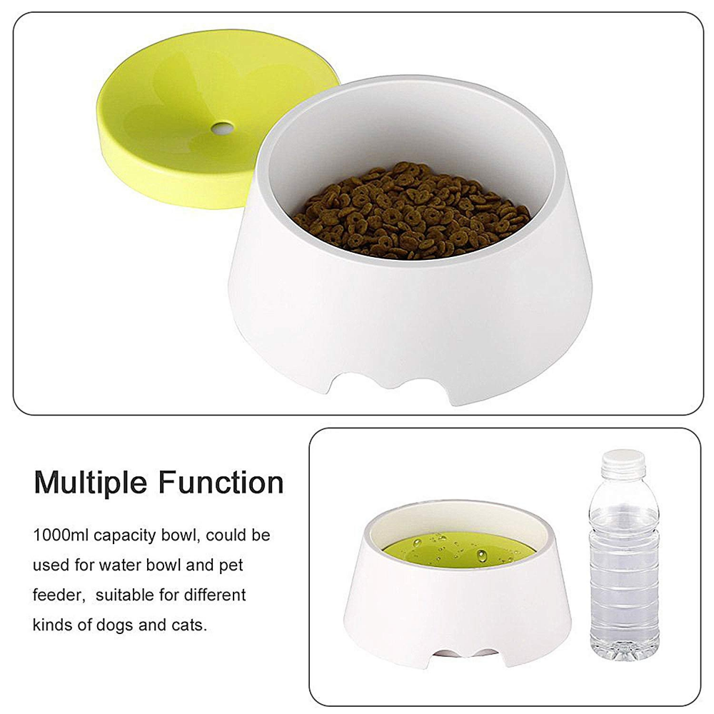 Dog Water Bowl, No Spill Pet Floating Drinking Bowl Slow