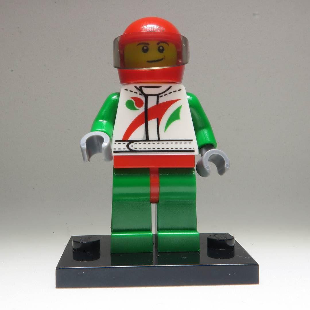 white helmet LEGO octan racer green racer minifigure Racer city sets