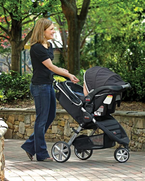 The Britax B Safe Infant Car Seat Is Travel System Compatible With