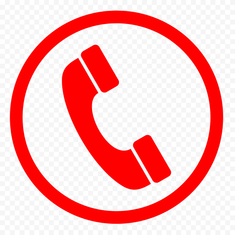 Hd Red Round Circle Phone Icon Png In 2021 Phone Icon Icon Circle
