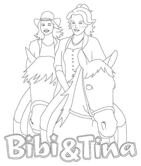 ausmalbilder bibi und tina kostenlos - ausmalbilder für