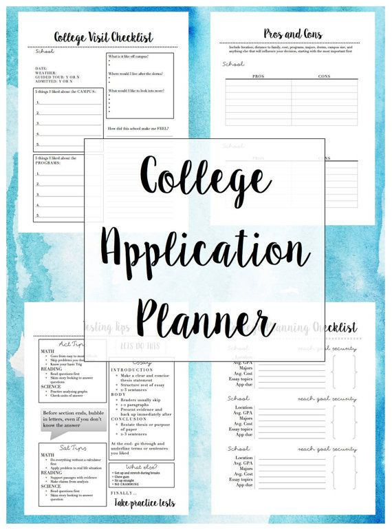 photo regarding Printable College Application Checklist named Higher education Software Planner (15+ website page printable) tutoring