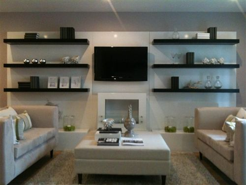 Room · Living Room Floating Shelves.