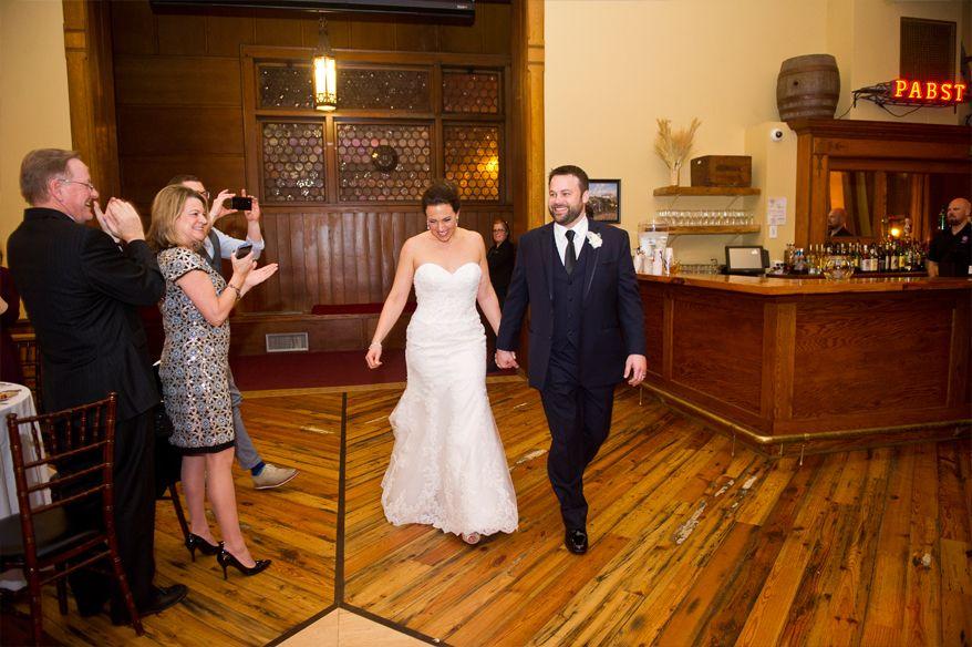 Pabst Best Place Milwaukee Wedding Reception Blue Ribbon Hall