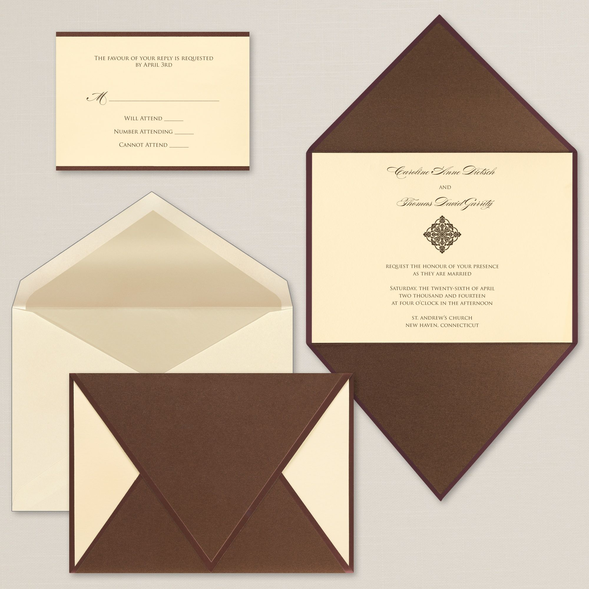 Wrapped In Love Wedding Invitation