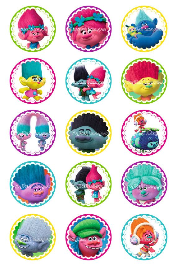 1 Trolls Bottle Cap Images Dreamworks Trolls Digital от