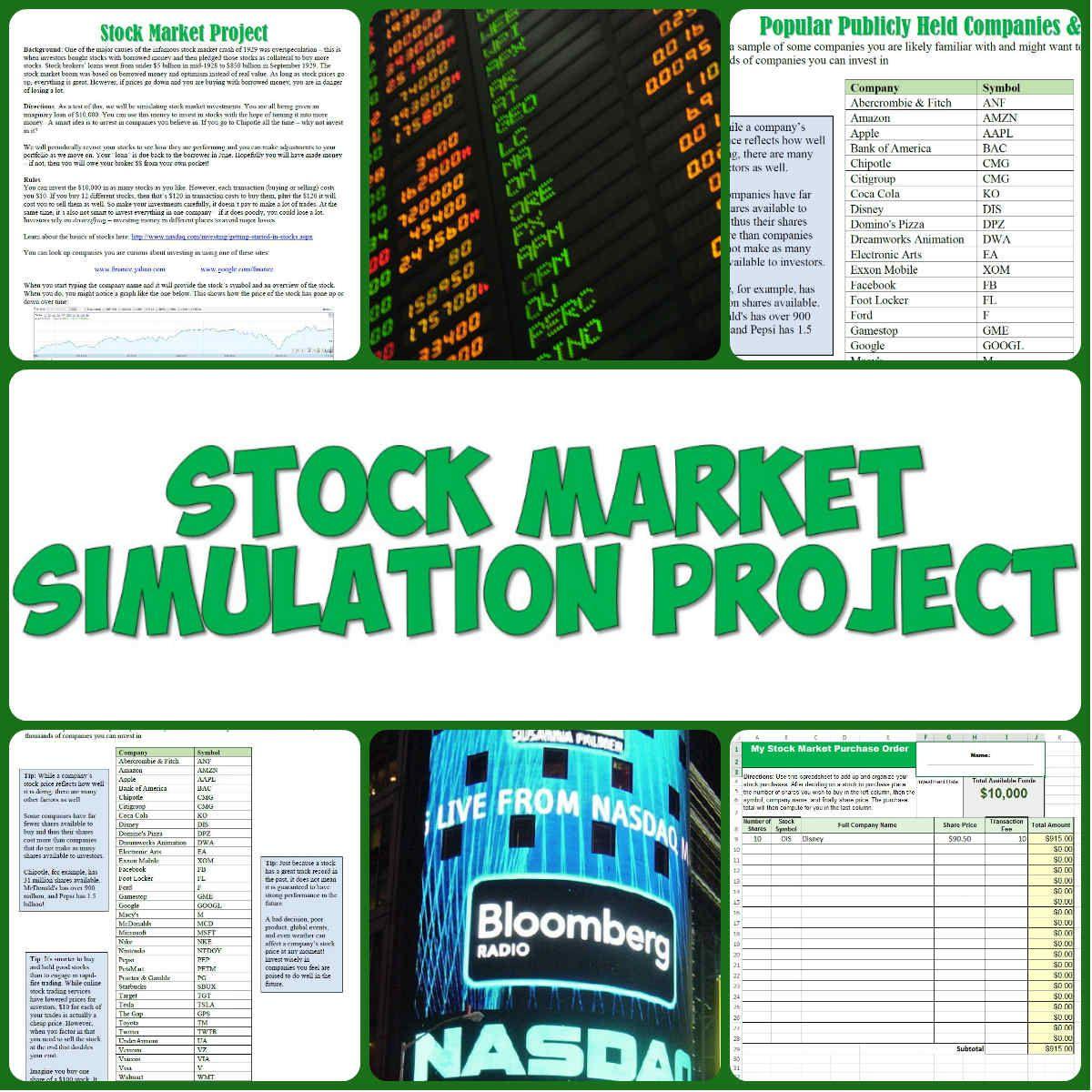 Stock Market Simulation Project