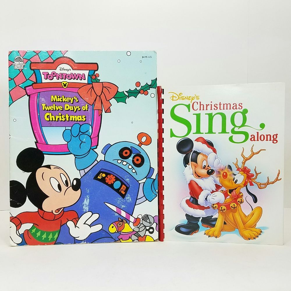 mickeys 12 days of christmas disneys christmas sing along lot of 2 1994 1995 disney