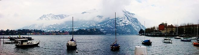 VIEW ACROSS LAKE COMO FROM LECCO - JPG Photos