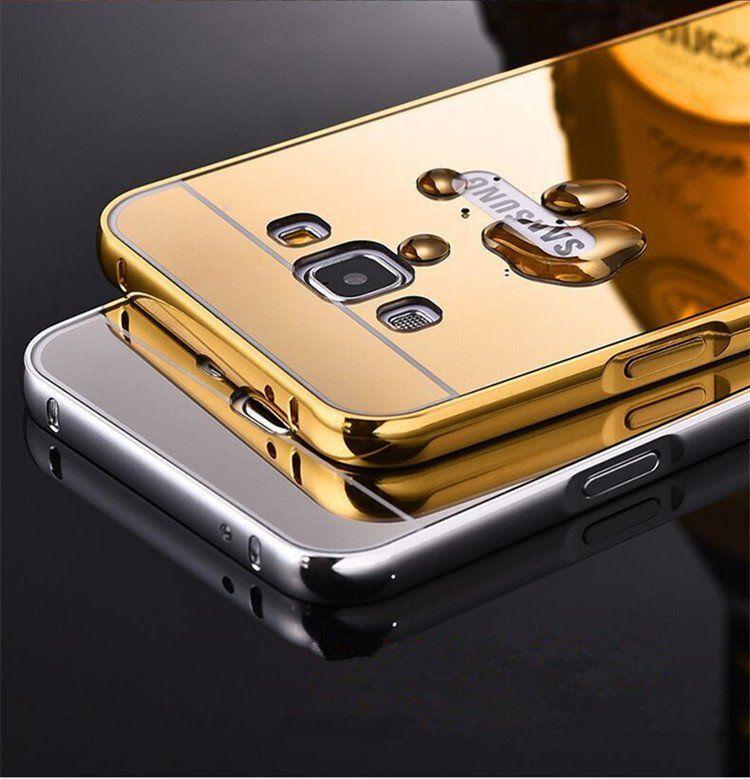 ظهر حماية من الأكريليك العاكس وإطار ألمنيوم ممتص للصدمات Loqta Ps Samsung Mobile Phone Accessories Aluminum Metal