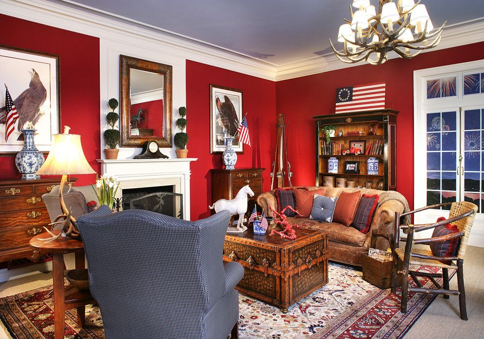 Patriotic Home Decoration Decoration Ideas Images In Living Room Traditional Design Ideas Red Living Room Walls Victorian Living Room Living Room New York