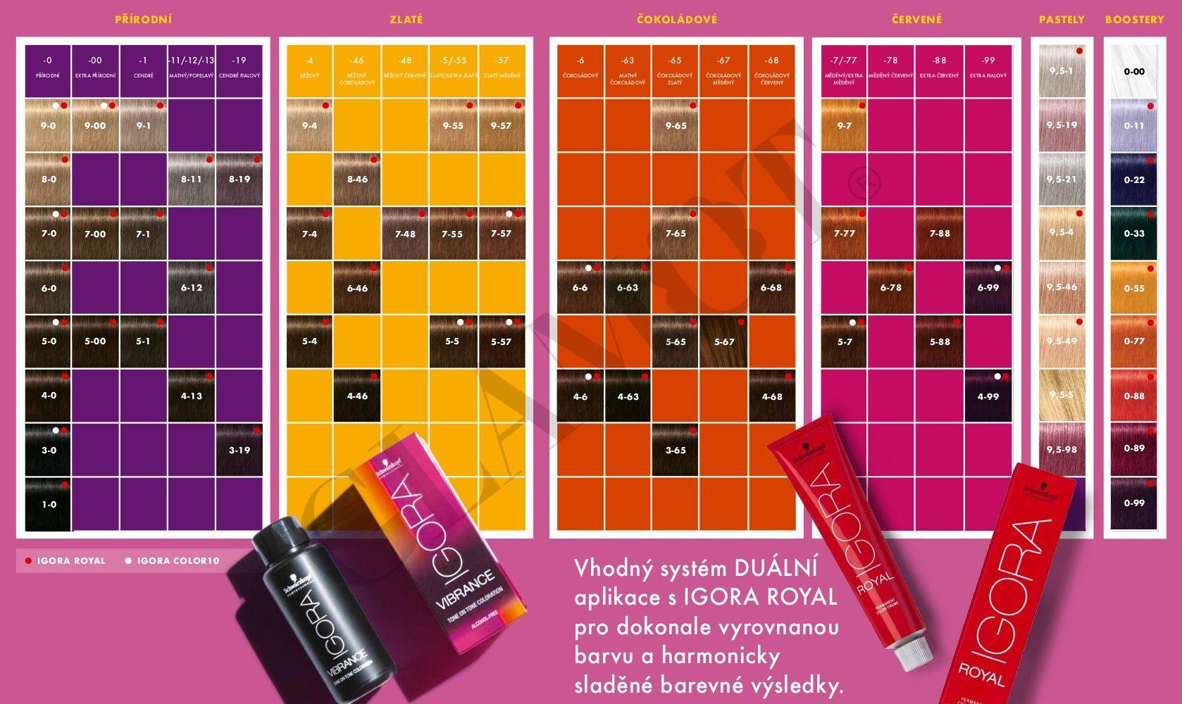 Igora Vibrance Color Chart Hair Color Chart Color Chart Vibrance