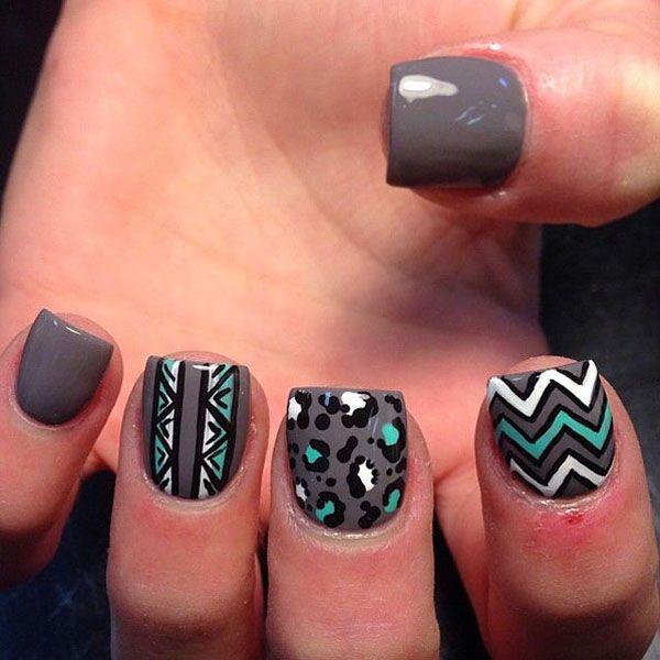 35 Gray Nail Art Designs   Animal nail art, Bald hairstyles and ...