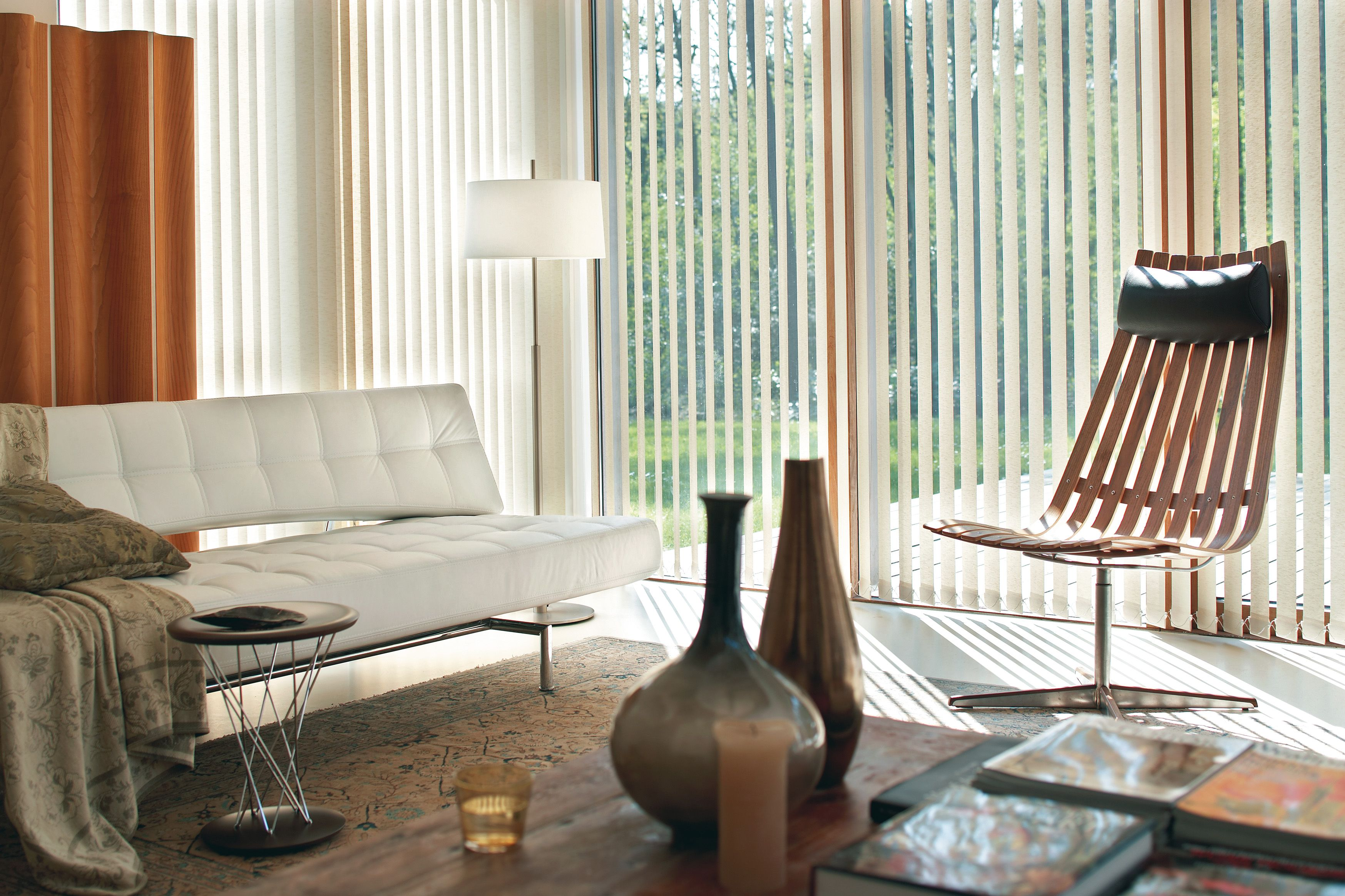 Mid century modern window shades - Luxaflex Vertical Blinds Elegant Simplicity For Larger Windows Perfect For Mid Century Modern Living