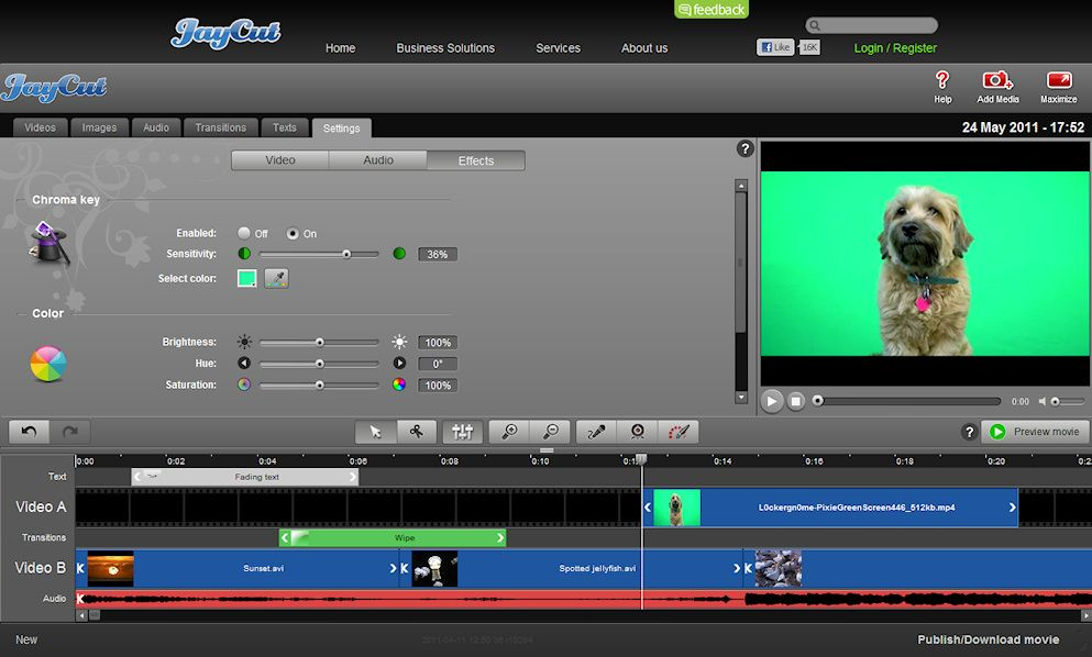 JayCut Video Editing on a Chromebook Greenscreen
