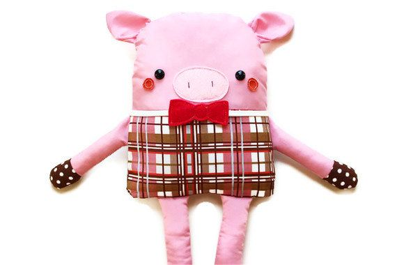 Pig Sewing Pattern Fabric Doll Softie Easy Sewing Pattern PDF ...