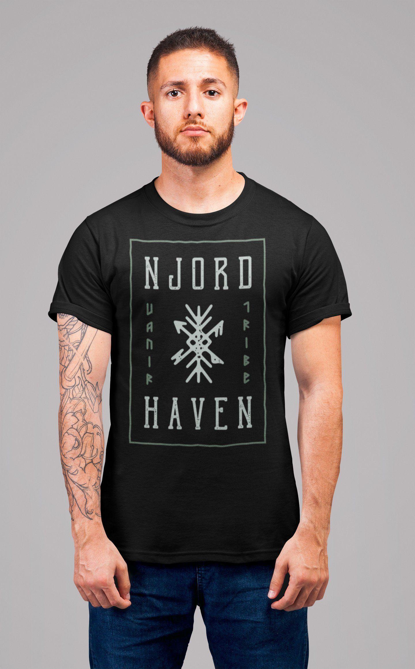 c2562fe54 Men's Viking T Shirt Njord Haven Viking Shirt Vanir Shirts Runes Shirt  Vintage Graphic Tee Ancient