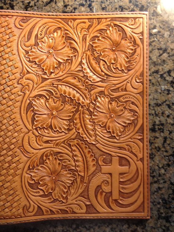hand tooled leather bible cover accessories pinterest