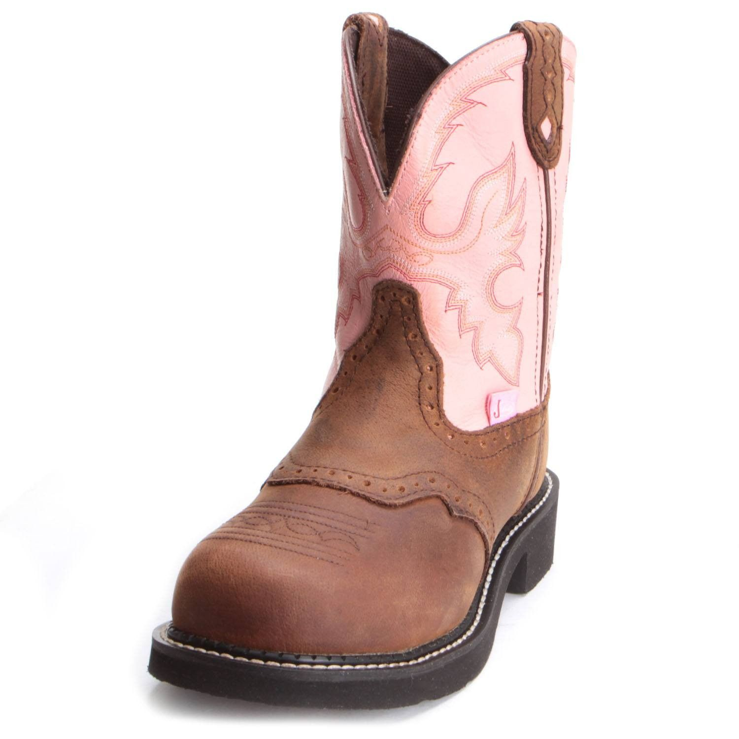 9e6268436ef Justin Womens Wanette Steel Toe Work Boots Pink | Cowboy Boots for ...