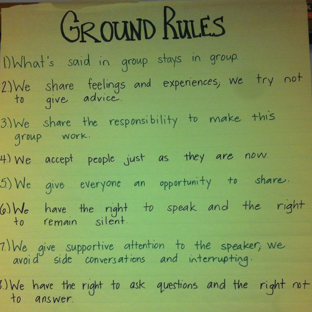 Ground Rules For Social Group Group Therapy Mentor Group Group Work