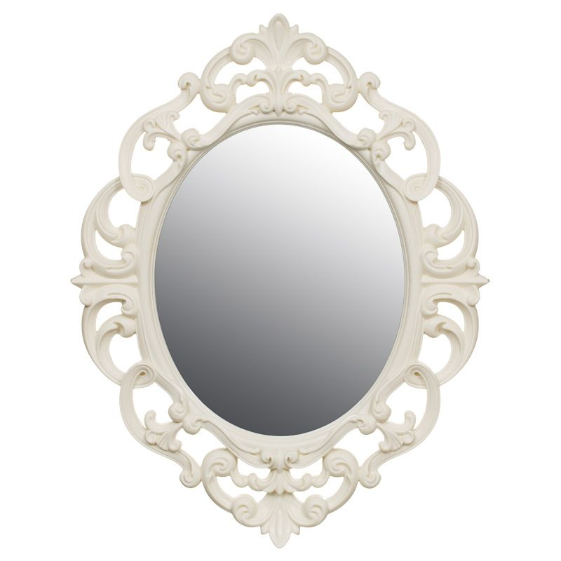 Small Ornate Oval Mirror