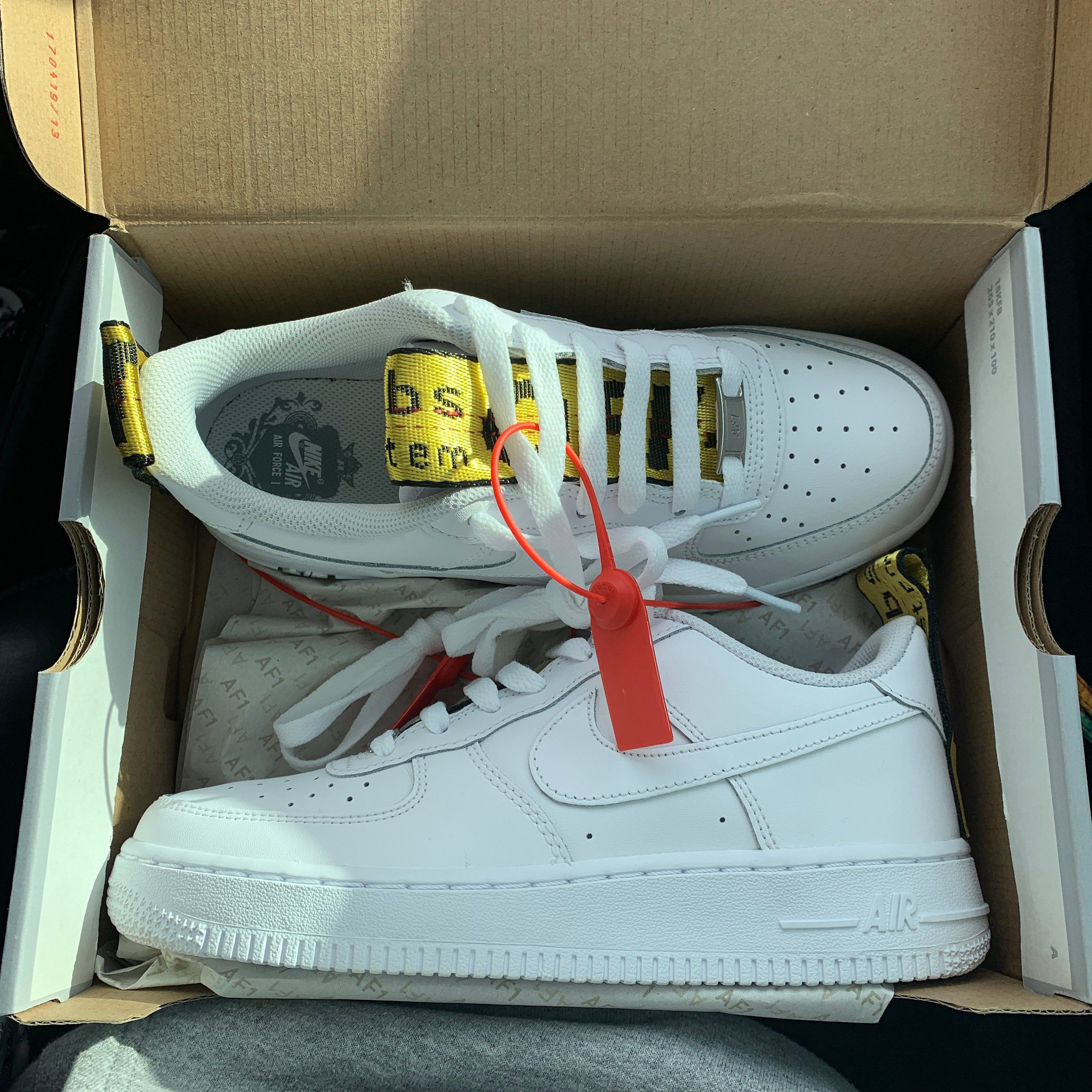 nike air force 1 low bianche e rosse