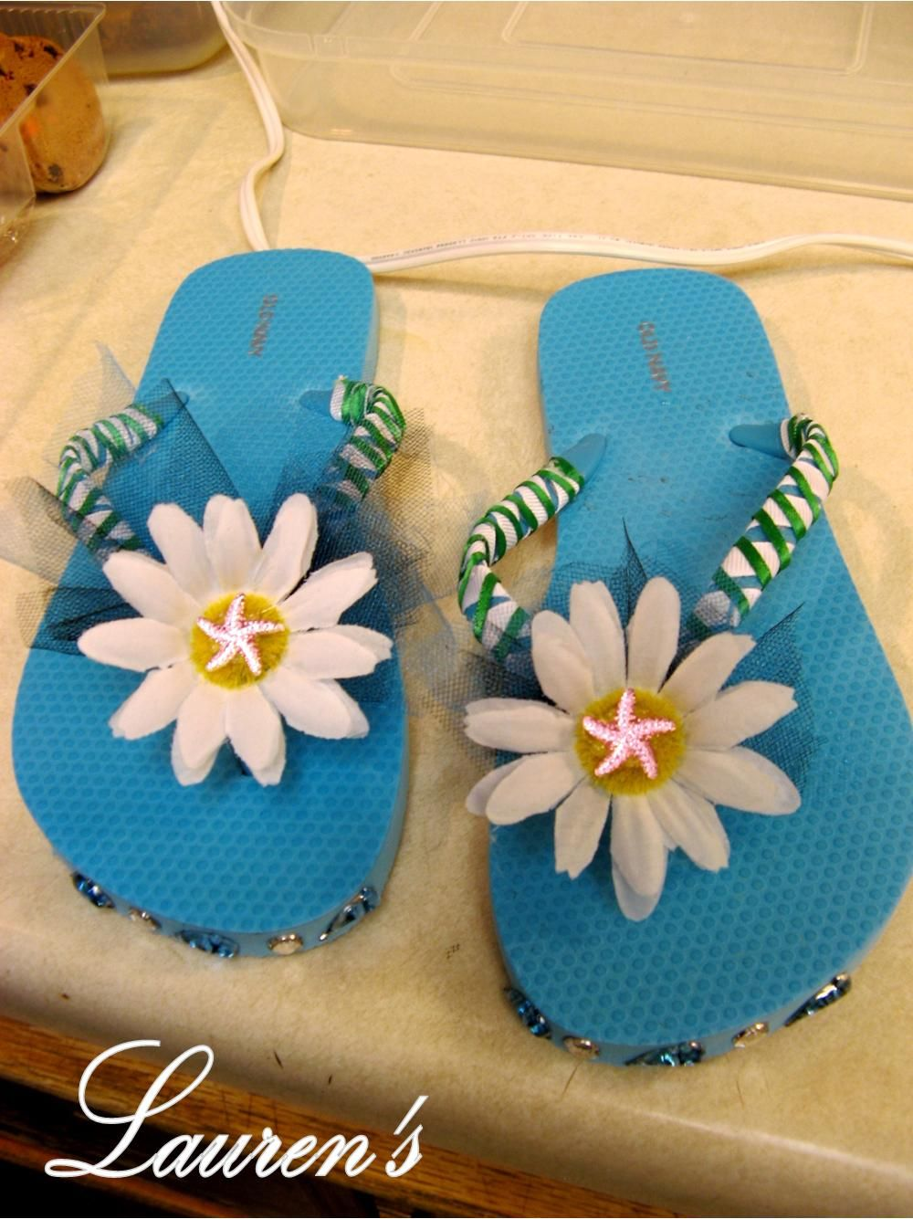 ideas to decorating decor how fashion flops summer flip tutorial yellow flop diy decorate silver your black sandals