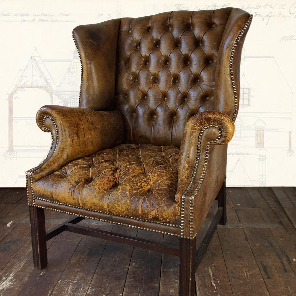 Oversized Leather Club Chair U2013 NapoleonRockefeller U2013 Vintage, Retro, Antique,  Mid Cen