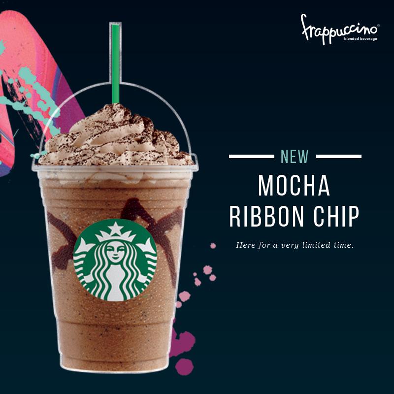 Starbucks New Mocha Ribbon Chip Frappuccino in Malaysia