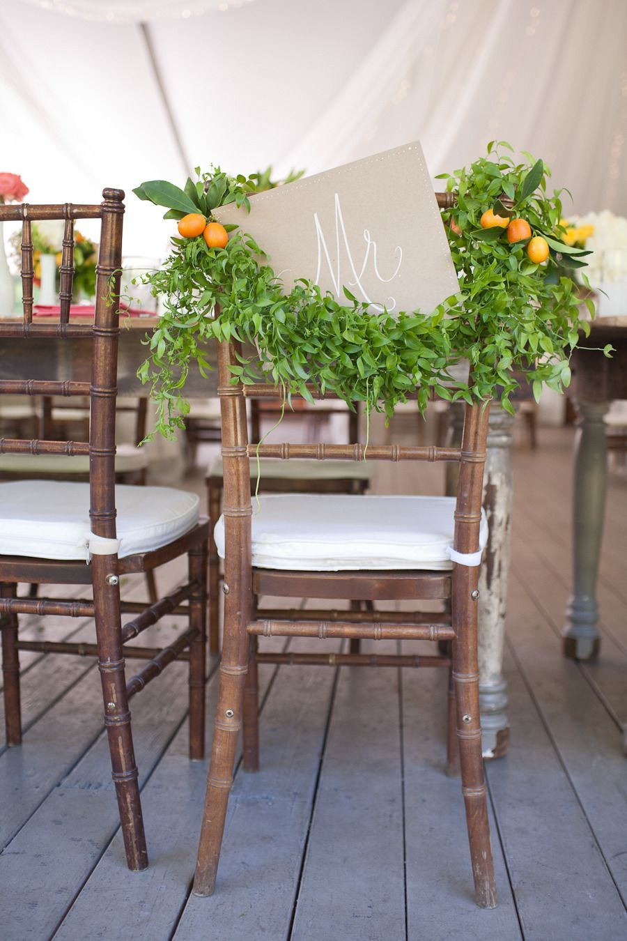 1920's themed wedding decorations  Chair of the groom  Photography Katie Vowels for Annie McElwain
