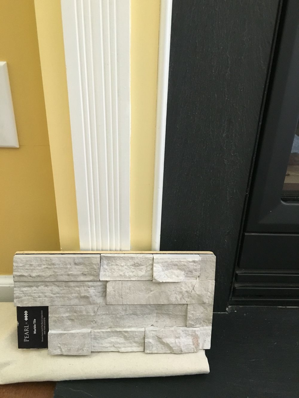 Marble dining room images coco marble fireplace haisa light floor - Pearl By Fine Marble Tile 6x24 Flat Back Ledge Stone Mat Pear Ledgefb