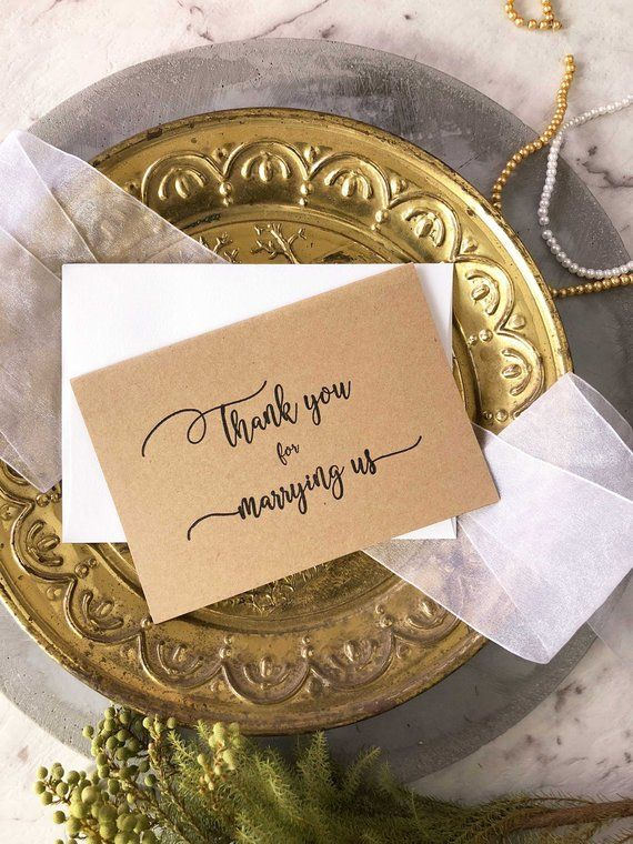 Wedding Officiant Gift Officiant Card Thank You For