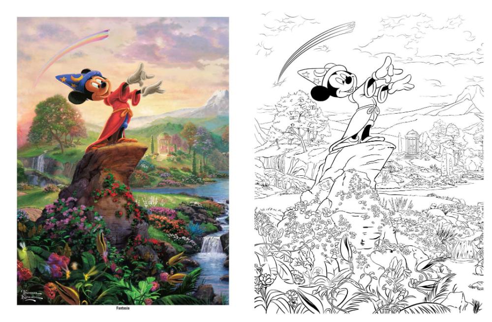 Disney Dreams Collection Thomas Kinkade Studios Coloring Book Amazon Co Uk Kinkade Thomas 0050837360075 Books In 2020 Coloring Books Thomas Kinkade Coloring Pages