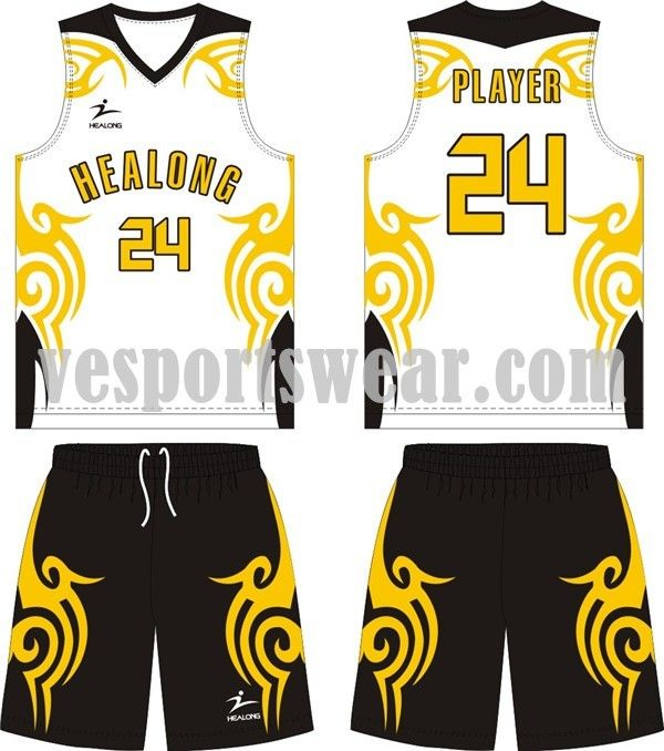 6d106a04958 New sublimation basketball jersey design