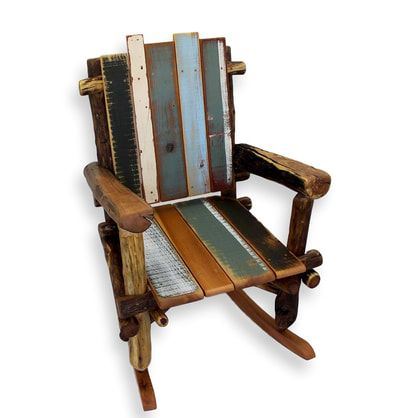 Delicieux Rustic Reclaimed Wood Rocking Chair By Woodzy