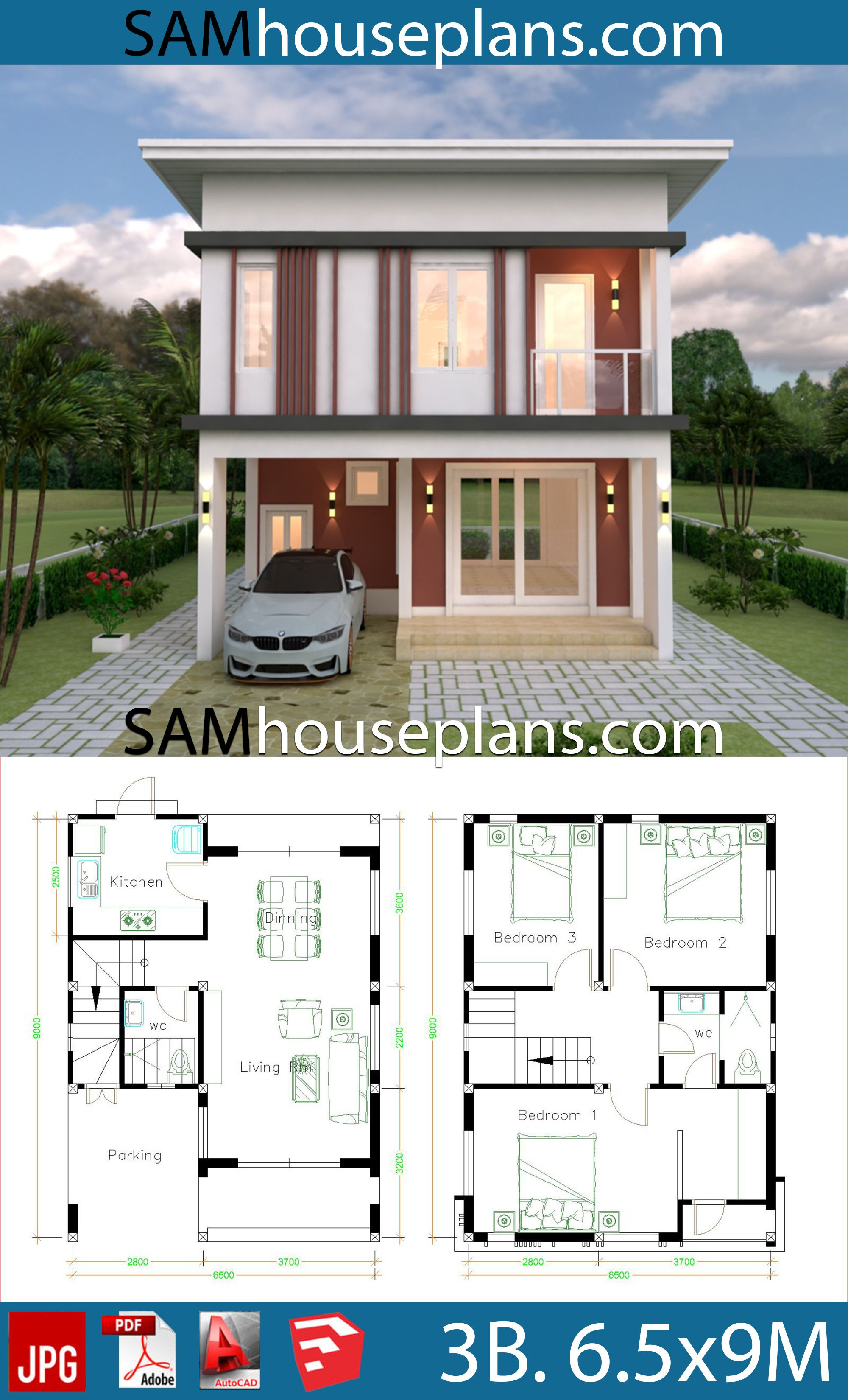 Flat Roof House Plans Design 2021 Flat Roof House Model House Plan House Construction Plan