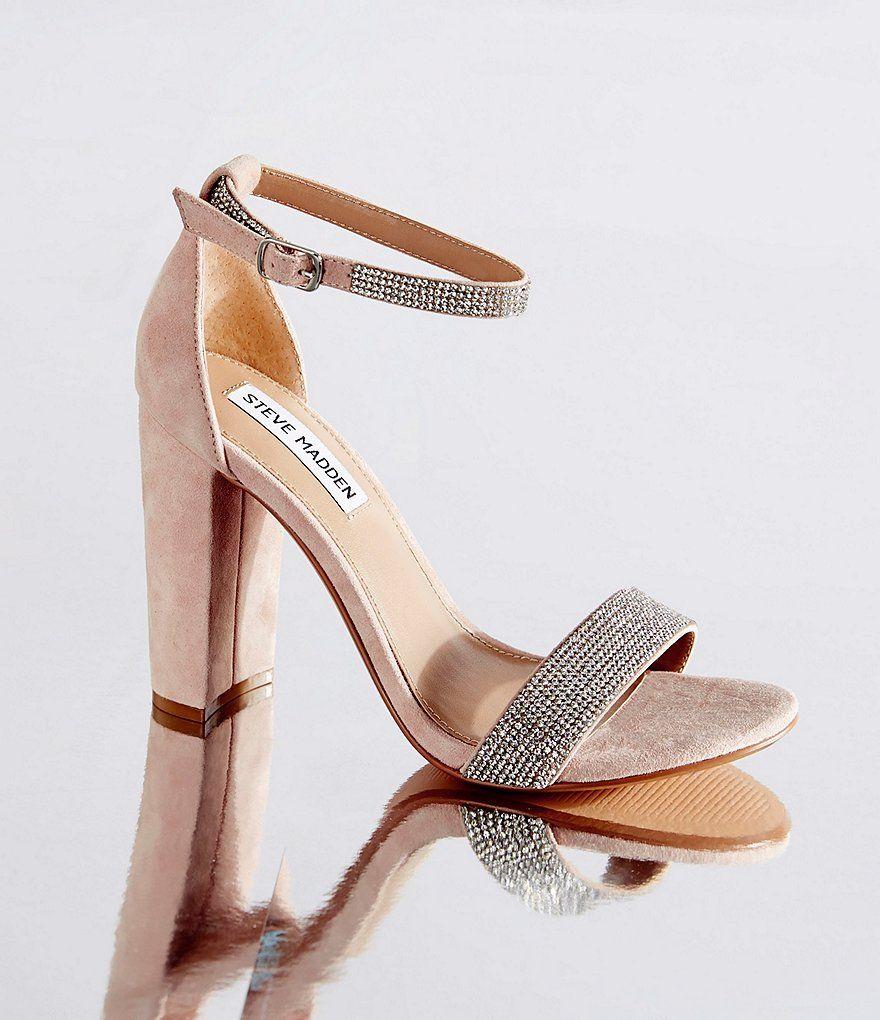 7e25d670dd7 Steve Madden Carrson Suede Rhinestone Dress Sandals