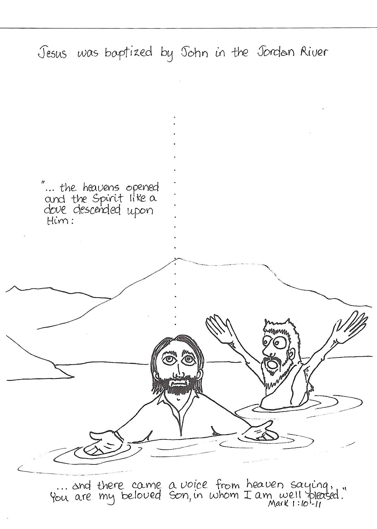 Jesus Is Baptized Baptism Of Jesus Bible Lessons For Kids Bible