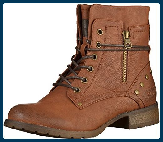 Tom Tailor Damen 3797305 Combat Boots Braun Cognac 37 Eu Stiefel Fur Frauen Partner Link Stiefeletten Damen Stiefel Stiefeletten