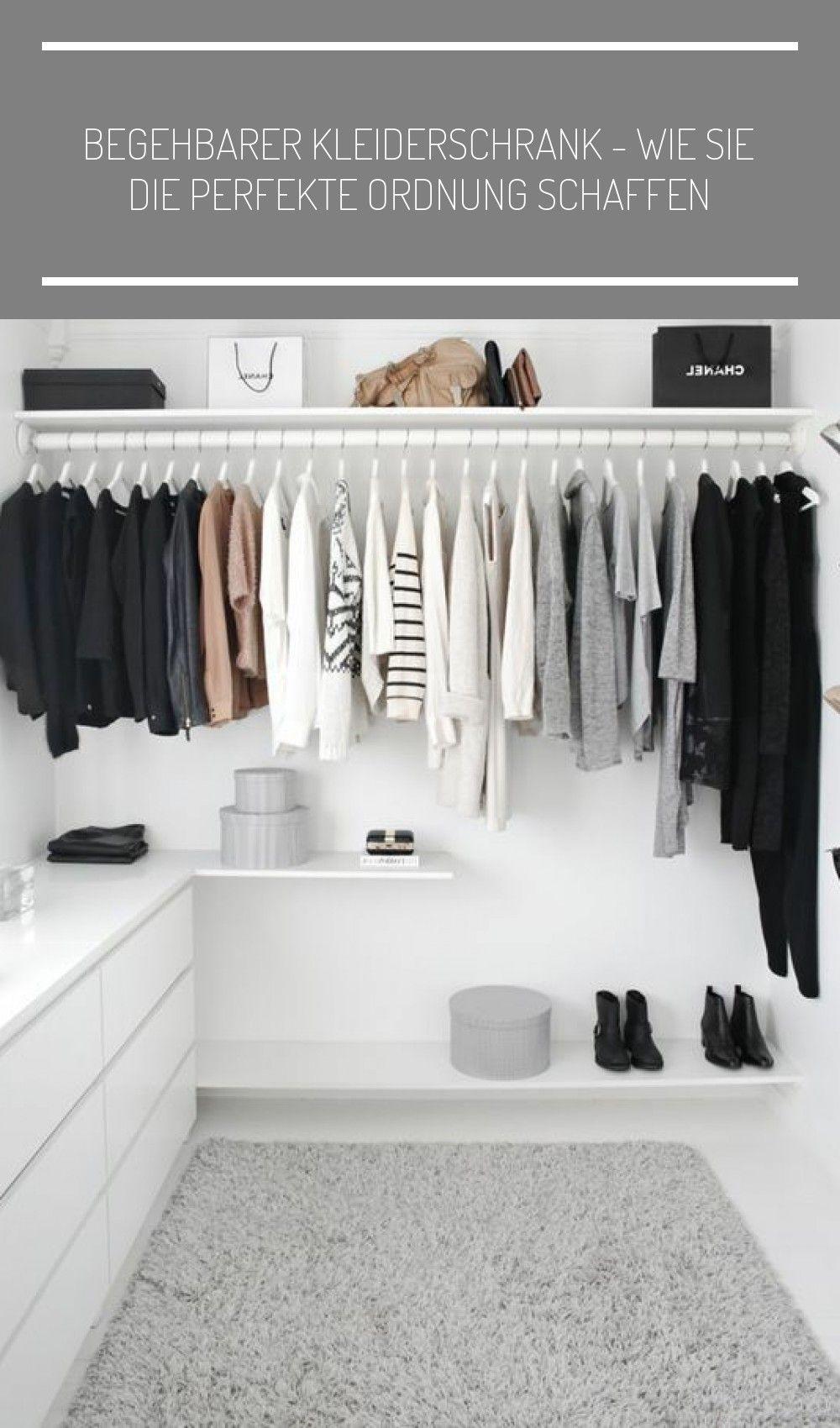 Begehbearer Kleiderschrank Naturfarben Ankleidezimmer Klein Begehbarer Kleiderschrank Wie Sie Die Perfekte Ordnung S In 2020 Closet Inspiration Open Closet Wardrobe