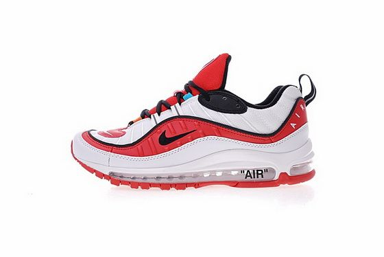 Men Shoes Casual Sneakers Virgil Abloh X Nike Air Max 98 The Ten Red White  Black 7ce9dae7a