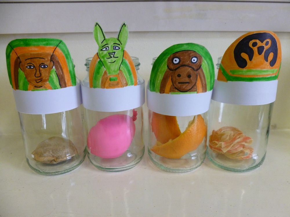 How To Make Canopic Jars For Kids