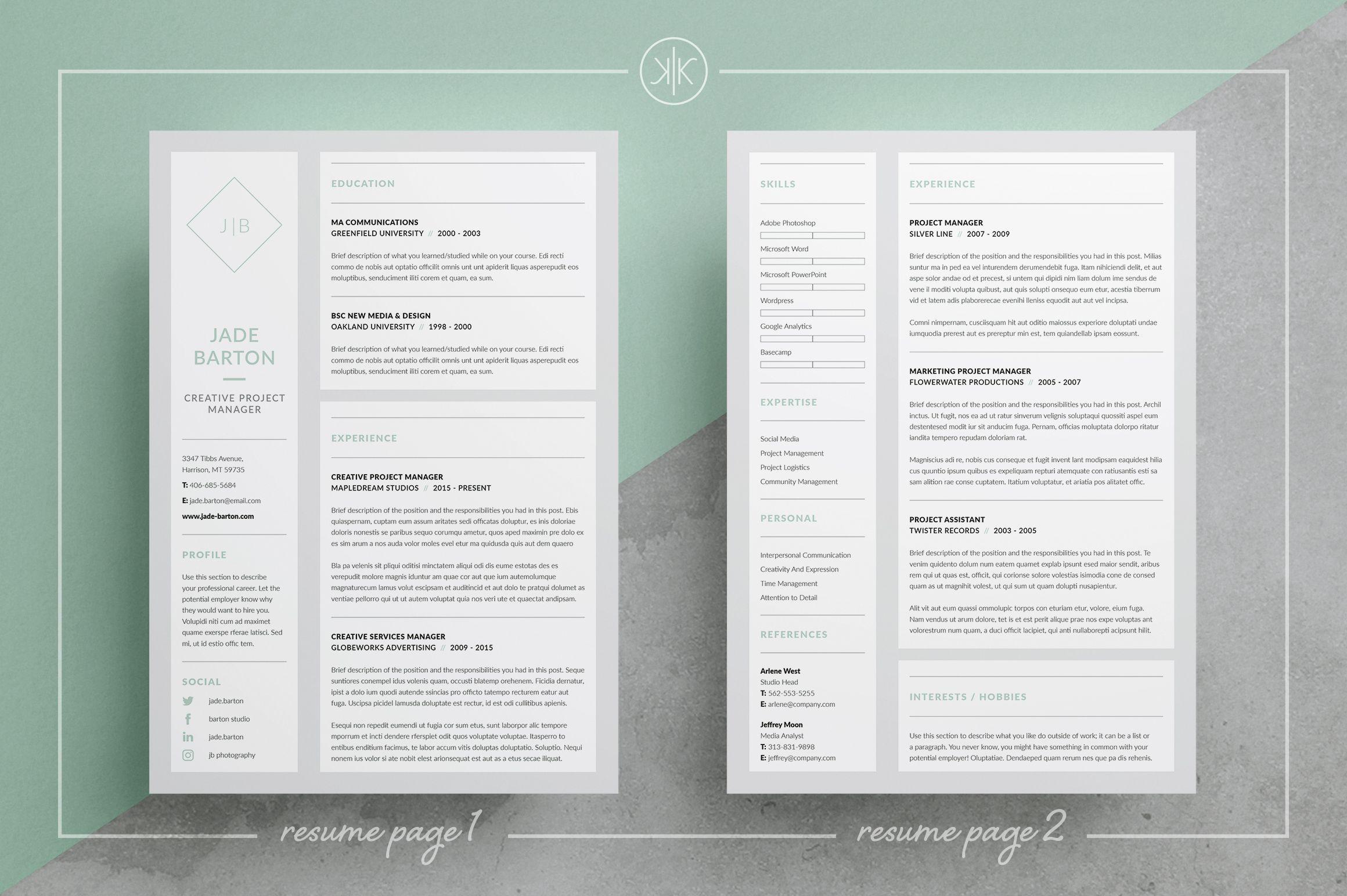Resume/CV | Jade