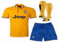Juventus FC 2013-2014 season Away Yellow Jersey Whole Kit