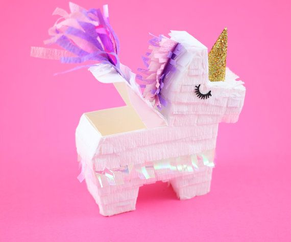 Unicorn Party Favors 3 Mini Unicorn Pinatas Unicorn by ...
