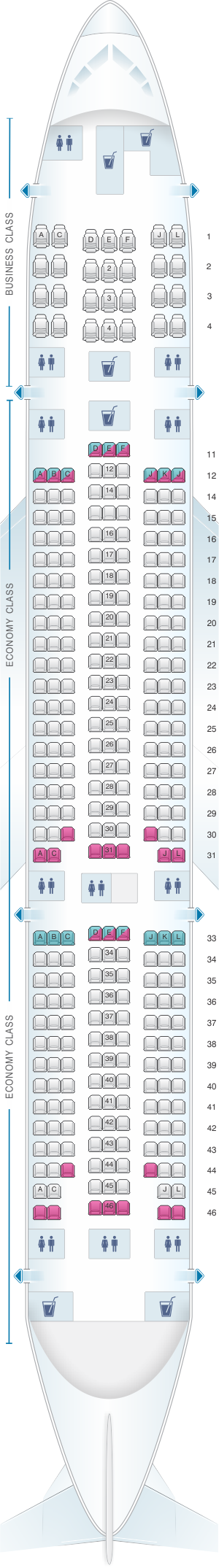Seat Plan For The Aer Lingus A IRELAND Pinterest Planes - Us airways seating map