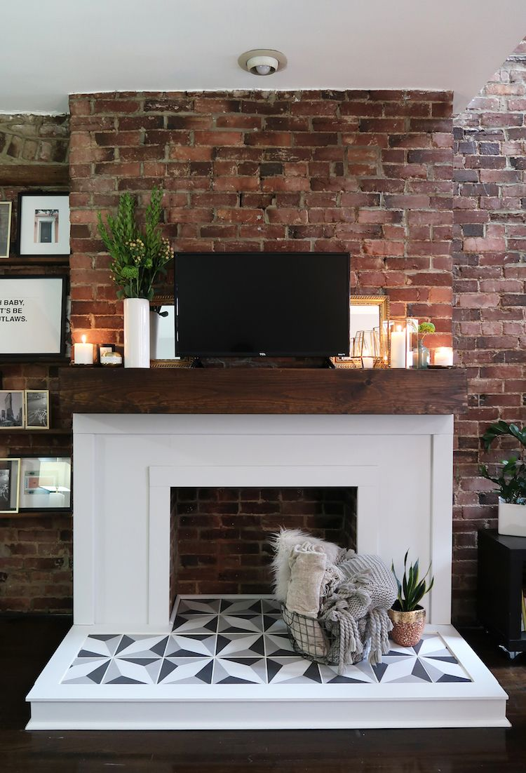 Diy fireplace makeover the home depot blog diy