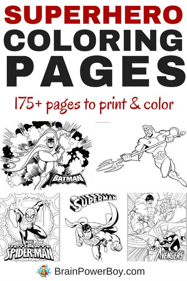 over 175 free printable superhero coloring pages - Coloring Pages Spiderman Printable